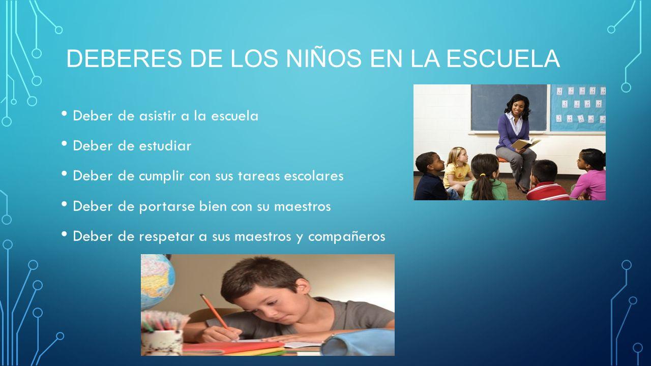 Los deberes de los ni os en la familia y el colegio for Memoria descriptiva de un colegio